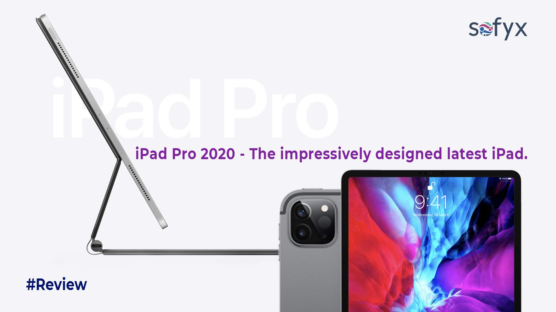 "iPad Pro 2020 – with a new impressive ""Magic"" keyboard."
